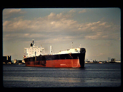 Original slide  Tanker  AMERICAN HERITAGE at Sewaren, NJ on 5-19-90