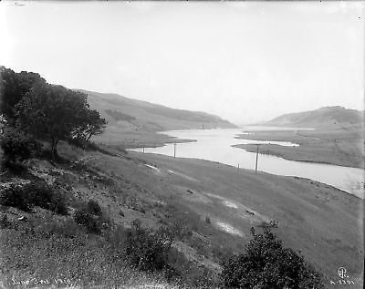 SAN PABLO DAM SITE VISTA - Contra Costa County CA 1919 - 8x10 Glass Negative