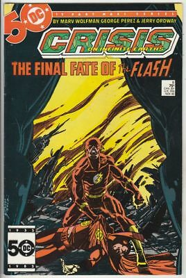 Crisis On Infinite Earths # 8 Strict VF Death The Flash