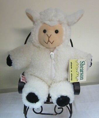 """Mary Meyer SHEARSON Sheep with Faux Wool Suit 1992 Removable  11"""" RARE"""