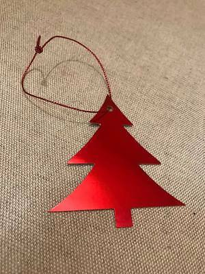 400 RED FOIL TREE GIFT TAGS CHRISTMAS PRESENT WRAPPING 40 x 10 NEW TAG X221 XMAS