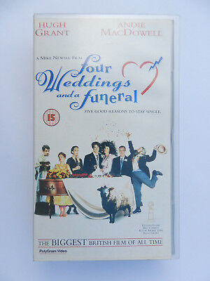 VHS Video Kassette Four Weddings and a Funeral Hugh Grant Andie MacDowell engl