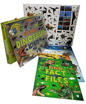 Ultimate Dinosaur Activity Pack With 4 Books and 500 Awesome Stickers Brand NEW