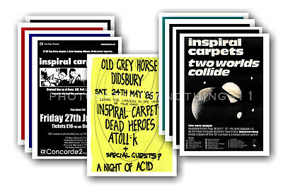 INSPIRAL CARPETS - 10 promotional posters - collectable postcard set # 2
