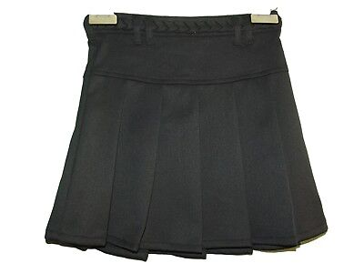 New Girls Ex Store Navy A Line Pleated Plaited Waist School Skirt Age 3-16 Aa11