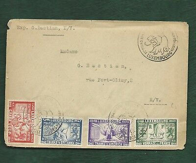 Luxembourg 1945 Liberation set on plain FDC special cancel