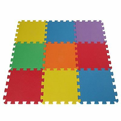 Eva Soft Foam Interlocking Floor Play Mats Garage Office Exercise Gym Kids Room