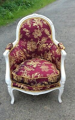 Beautiful French Original  Antique 19Thc Bergere Chair From Coutances Normandy