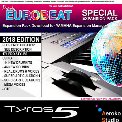 YAMAHA TYROS-5 EUROBEAT Mix Styles/Voice Expansion Pack DOWNLOAD for YEM