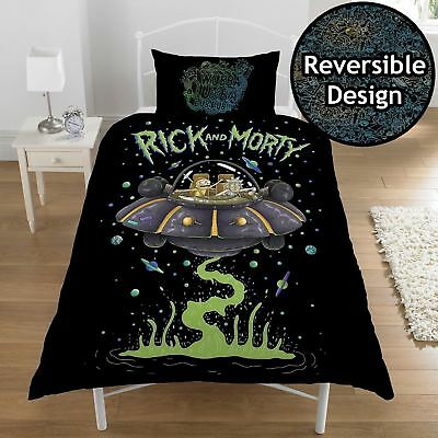 Rick and Morty Single Panel Duvet Cover Bedding Set