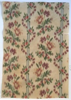 Very Beautiful 19th Century French Silk Ikat Fabric  (2422)