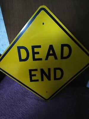 dead end street sign, actual retired sign