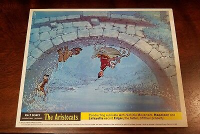 The Aristocats lobby card #1 Walt Disney - mini uk card - 8 x 10 inches