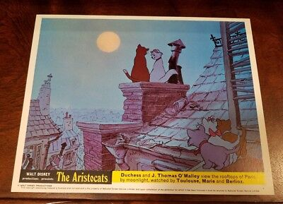 The Aristocats lobby card #3 Walt Disney - mini uk card - 8 x 10 inches