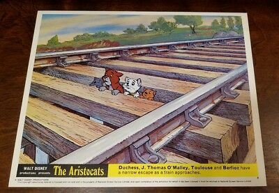 The Aristocats lobby card #8 Walt Disney - mini uk card - 8 x 10 inches
