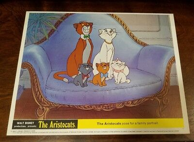 The Aristocats lobby card #10 Walt Disney - mini uk card - 8 x 10 inches