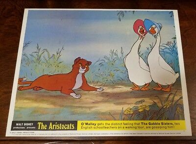 The Aristocats lobby card #11 Walt Disney - mini uk card - 8 x 10 inches