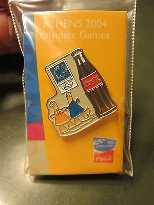 Japanese Coca Cola Pin Athens 2004 Olympic Pin Coke Sponsor Japan New!