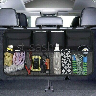 Car Boot Organiser Heavy Duty Fold-Able 4 Pocket Trunk Chest Storage Back Seat
