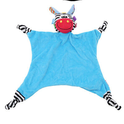 Colorful Soft Plush Animal Soothing Towel Toy Bed Appeased Baby Toy Rattle Z