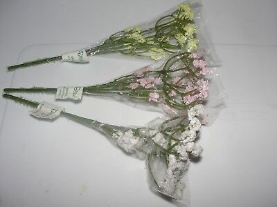 Dollhouse Miniature 3 Bunches of Assorted Flowers NRFP