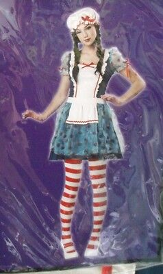 NWT Creepy ? Rag Doll RAGGEDY ANN Halloween Costume Teen Girls Juniors Size 3-5