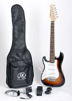 SX RST 1/2 3TS Left Handed Guitar Package 1/2 Size w/Strap & Instructional Video