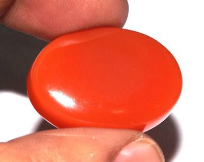 37 ct Natural Earth Mined Carnelian 28 x 20 mm Cabochon Gemstone #zcr47