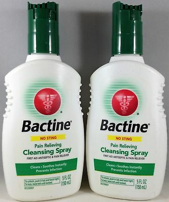 2 Pack Bactine Pain Relieving Cleansing Spray First Aid Antiseptic - 5 oz Each