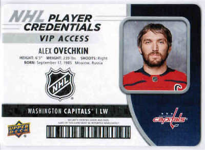 18/19 UD MVP HOCKEY PLAYER CREDENTIALS VIP ACCESS CARDS NHL-XX U-Pick From List