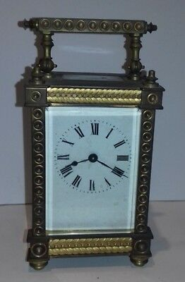Carriage Clock, Nice Quality With Lion Makers Mark , Non Working, 15 Cms High