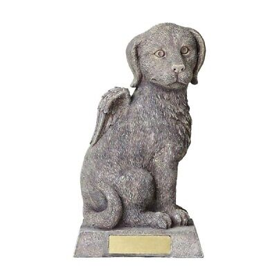 Angel Dog with Wings Cremation Urn Statue Ashes Memorial Bereavement Pet New