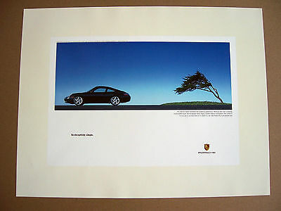 Porsche Official Factory Issued 996 911 Carrera 4 Coupe Poster 1999 - 2004 Usa