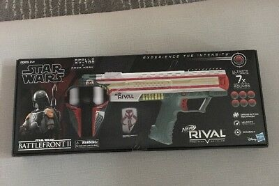 Boba Fett NERF Rival Apollo XV-700 Blaster Star Wars w/ Mask and Rounds NEW
