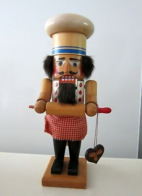 Steinbach Cookie Baker W/ Rolling Pin Hand Made Wooden Nutcracker Germany