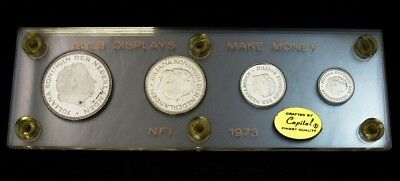 4 Netherlands Brilliant Uncirculated Coins in Capital Plastics Holder