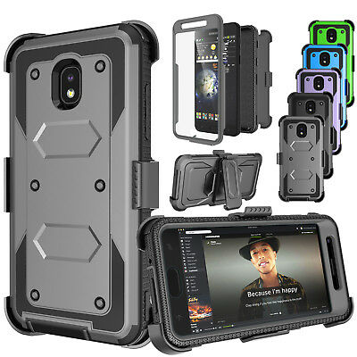 Shockproof Armor Refined Clip Holster Case Cover With Built-in Screen Protector