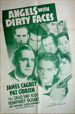 "Re-issue One Sheet - JAMES CAGNEY - ""Angels with Dirty Faces"" - HUMPHREY BOGART"