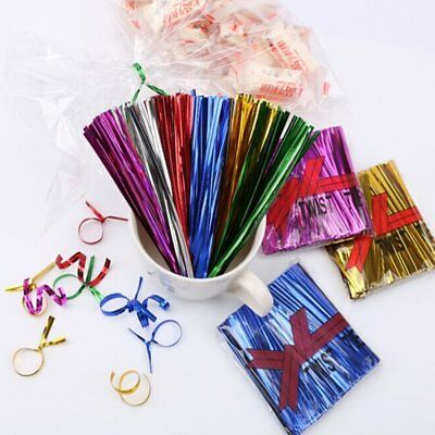 800Pcs/Bag Colorful Metallic Twist Ties For Candy Lollipop Cake Pop Cello Party