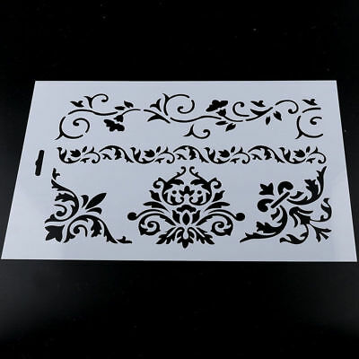 DIY Scrapbooking Embossing Flower Layering Stencils Paper Cards Craft White EY