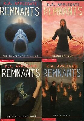 """Lot Of 4 """"remnants"""" Books By K.a. Applegate"""