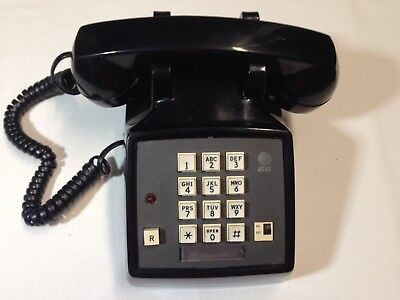 Vintage AT&T Telephone Push Button  Desk Business Phone Black Untested
