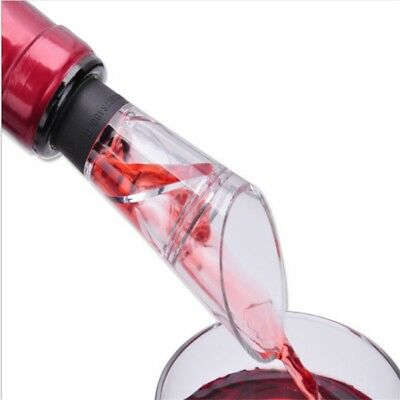 Spiral Decanter Wine Pourer Bottle Spout Aerating Corkscrew Stopper Tool Gift