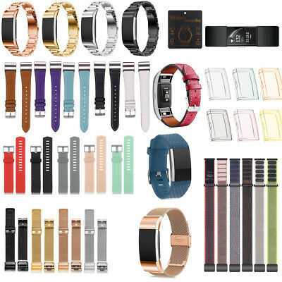 Various Replacement Strap & TPU Case For FitBit Charge 2 Bracelet Wristband Band