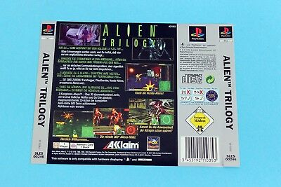Playstation PS1 - Alien Trilogy - Back Inlay Cover Rückseite