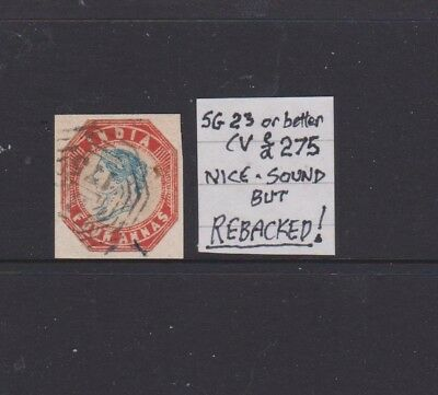 INDIA 1854 sg23 or better NICE is REBACKED $$$