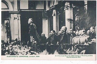 Archbishop Bourne At The Horticultural Hall, Eucharistic Congress, London,1908