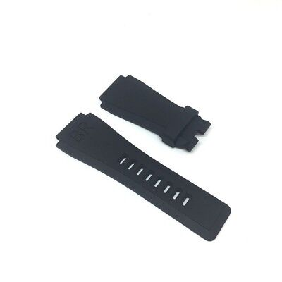 24 | 33 mm BELL ROSS Black Caoutchouc Rubber Watch Strap Band BR01 BR03
