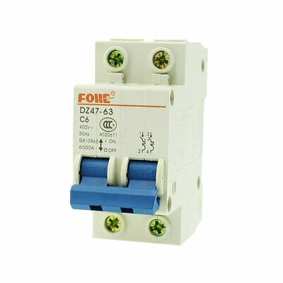AC 400V 63 Amp 2 pôles protection contre les surcharges MCB mini circuit breaker