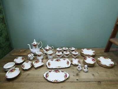 Job Lot Of Old Country Roses Royal Albert Fine Bone China Tableware *COLLECTION*